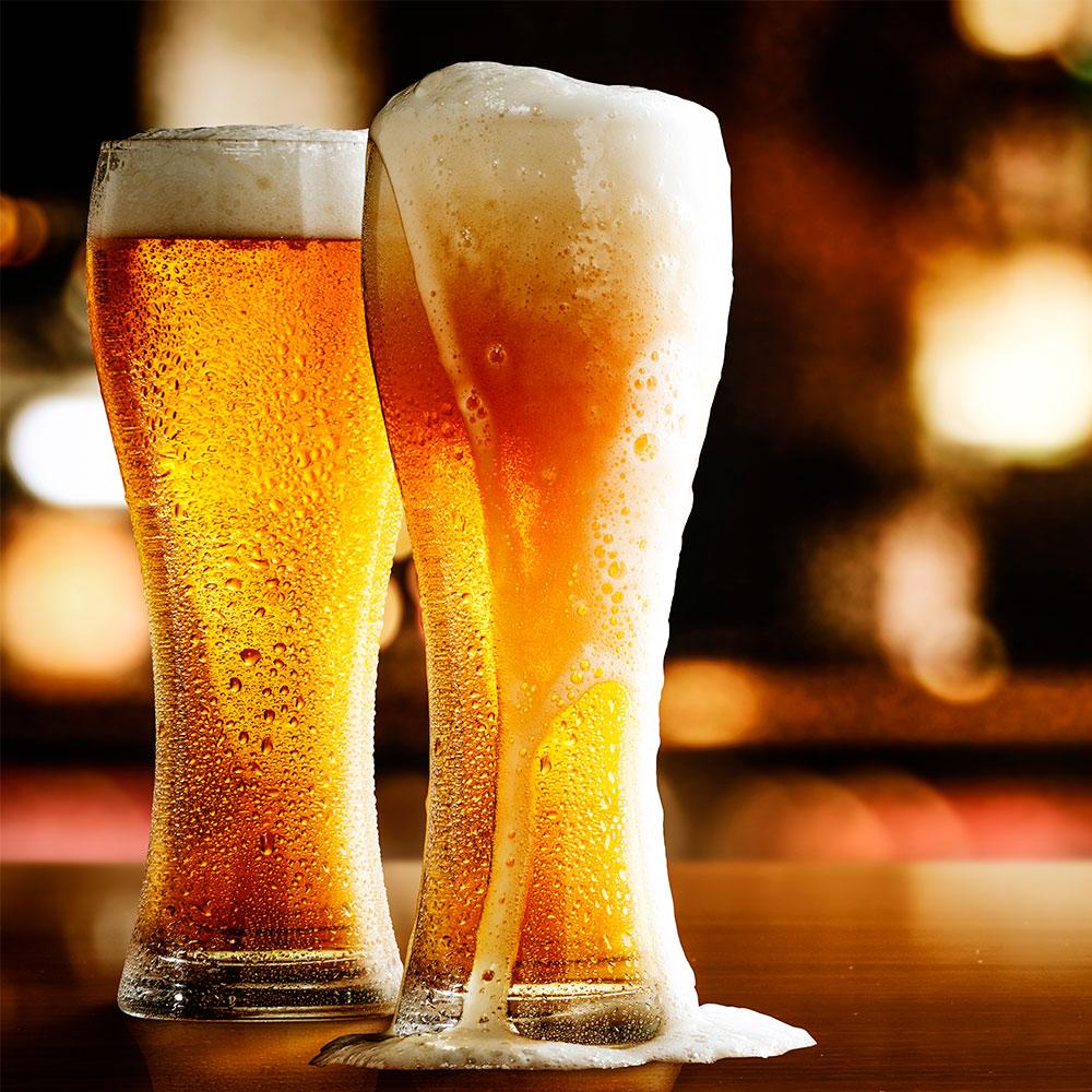 Las burbujas de la cerveza