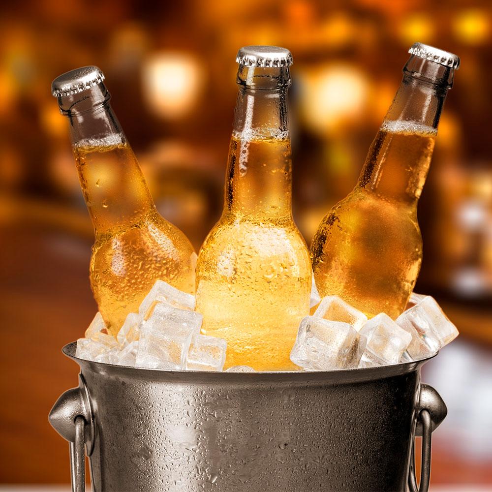 Cerveza artesanal en cubeta